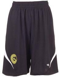 Balenciaga Technical Jersey Soccer Shorts In Black