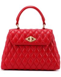 Ballantyne Diamond Extra Small Red Leather Bag