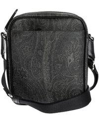 Etro Paisley Messenger Bag In Black