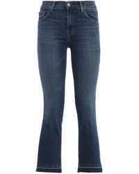 J Brand Selena Crop Boot Mid Rise Jeans - Blue