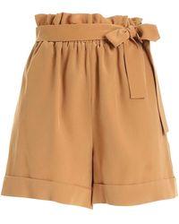 FEDERICA TOSI Shorts con nastro marroni - Marrone