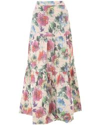 Pinko Floral Skirt - Multicolour