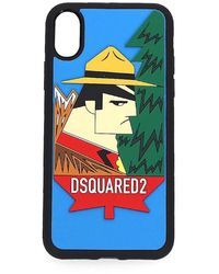 DSquared² Iphone X Logo Rubber Cover - Blue
