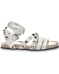Kendall + Kylie Bianca White Leather Sandals