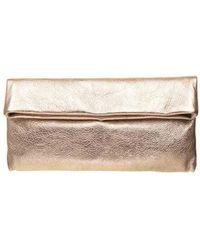 Gianni Chiarini Cherry Small Clutch Bag In Gold Color - Metallic