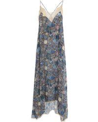 Zadig & Voltaire Vestito in viscosa a fiori - Blu
