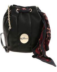 be Blumarine - Scarf Bucket Bag In Black - Lyst