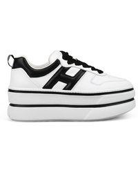 Hogan Flatform Trainers - White