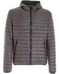 Colmar Logo Patch Down Jacket In Gray