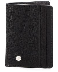 Orciani Black Printed Leather Bifold Card Holder