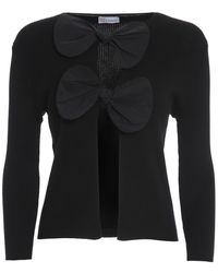 RED Valentino Cotton Cardigan With Bows - Black