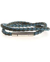 Tod's Bracciale intrecciato azzurro e verde - Blu