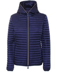 Save The Duck Alexis Hooded Puffer Jacket - Blue