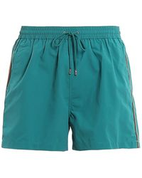 Paul Smith Plain Stripe Swim Shorts - Green