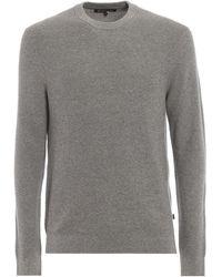 Michael Kors Girocollo grigio in cotone e lana mouline