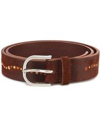 Orciani Cloudy Micro Stud Suede Belt - Brown