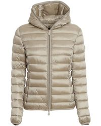 Save The Duck Iris Nylon Hooded Puffer Jacket - Natural