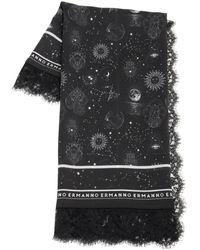 Ermanno Scervino Silk Lace Scarf - Black