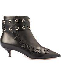 RED Valentino Valentino Garavani Leather Ankle Boots With Zip - Black