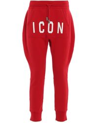DSquared² Icon Track Pants - Red
