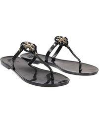 Tory Burch Mini Miller Jelly Thong Sandal - Black