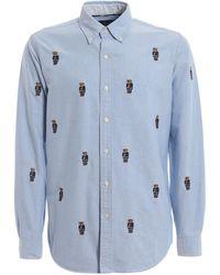 Preppy Bear Blue Cotton Yale Bd Oxford Shirt zMVpSLqUG
