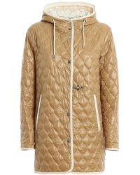 Fay Quilted Nylon Hooded Coat - Multicolour