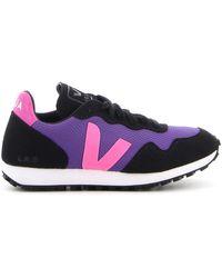 Veja Sdu Rec Low-top Mesh Sneakers - Purple