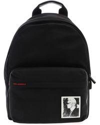 Karl Lagerfeld Karl Legend Backpack In Black