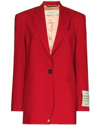 Golden Goose Deluxe Brand Wool Blend Single Breasted Blazer - Red