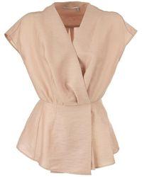 Agnona Linen Blend Top - Pink
