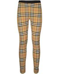 Burberry Vintage Check leggings - Natural