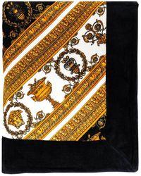 Versace Baroque Print Cotton Beach Towel - Multicolour