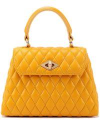 Ballantyne Diamond Extra Small Yellow Leather Bag