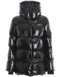 Fay Water Repellent Puffer Jacket - Black