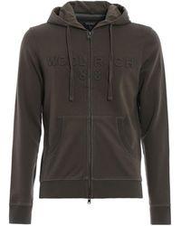 Woolrich Cotton Embossed Logo Hoodie - Green