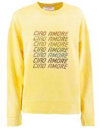 Giada Benincasa Ciao Amore Sweatshirt In Yellow