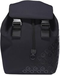 Dolce & Gabbana Millenials Backpack With Rubberised Logo - Black
