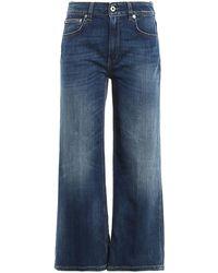 Dondup Avenue Denim Flared Jeans - Blue