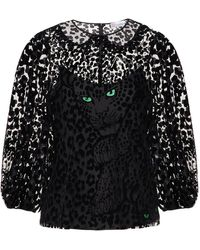 RED Valentino Leo Panther Patterned Shirt - Black
