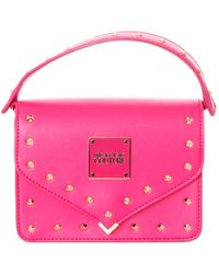 Versace Studded Bag In Fuchsia - Pink