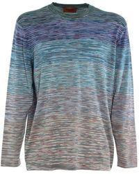 Missoni T-shirt a maniche lunghe - Blu