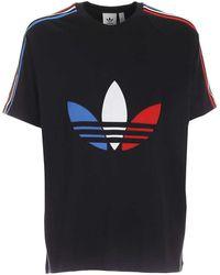 adidas Originals T-Shirt Tricol Nera - Nero