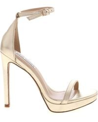 Steve Madden Milan Golden Sandals - Metallic