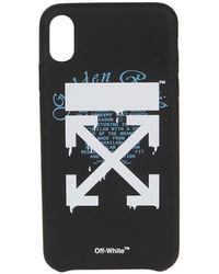 Off-White c/o Virgil Abloh Cover per iPhone XS con logo Arrows - Nero