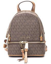 Michael Kors Rhea Mini Backpack - Brown