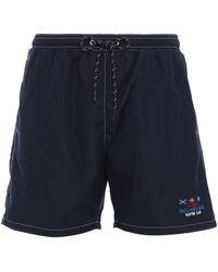 Paul & Shark Nylon Swim Shorts - Blue