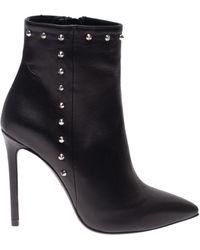 Marc Ellis Stud Embellished Black Nappa Leather Booties