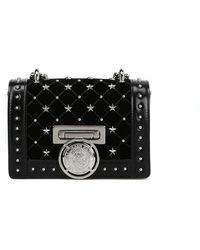 Balmain Leather Shoulder Bag - Black