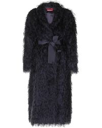 F.R.S For Restless Sleepers Cappotto nero effetto mohair
